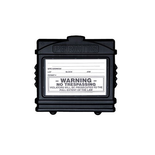 EZ Permit Box Black and Black