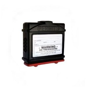 EZ Permit Box Black and Red