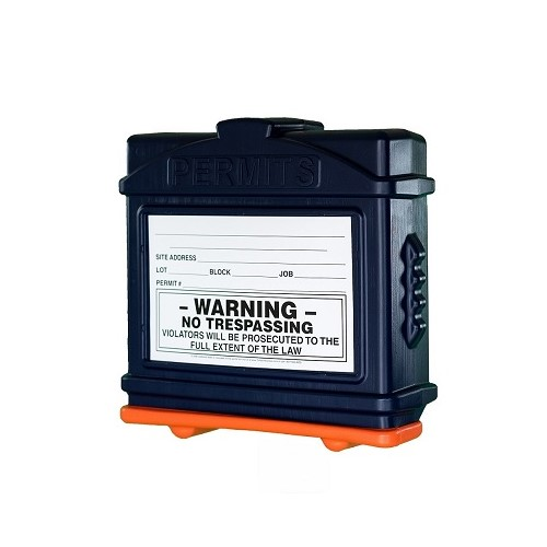 EZ Permit Box Blue and Orange
