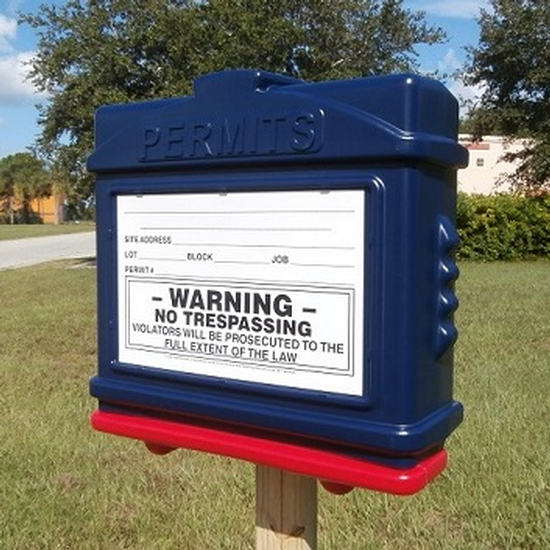 EZ Permit Box Blue and Red