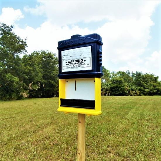 EZ Permit Box Blue and Yellow