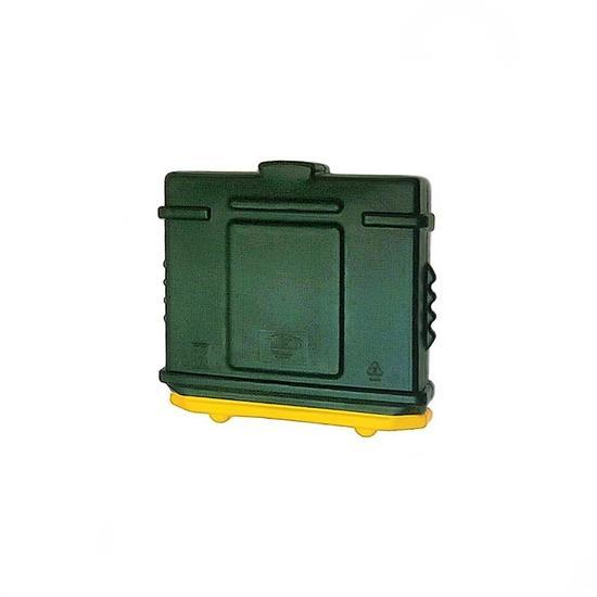 EZ Permit Box Green and Yellow