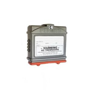 EZ Permit Box w/Lock Gray and Orange