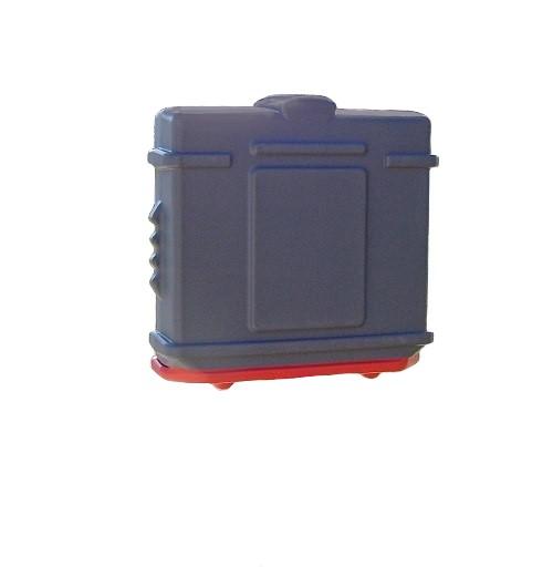EZ Permit Box Gray and Orange