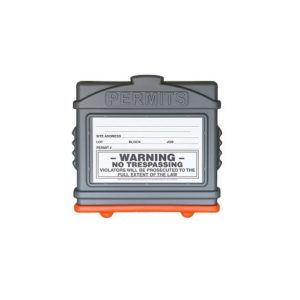 EZ Permit Box Gray and Orange