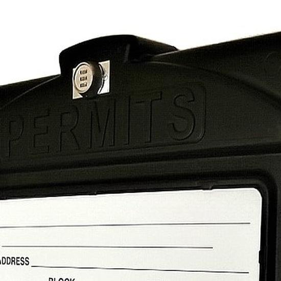EZ Permit Box w/Lock Black and Black