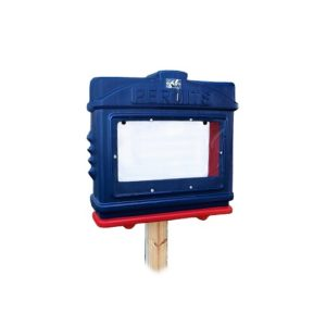 EZ Permit Box w/ Window & Lock Blue and Red