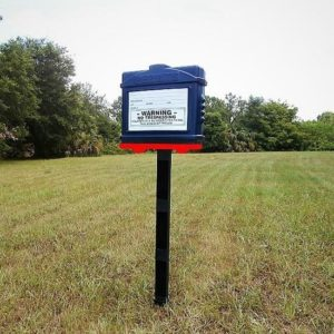 EZ Permit Box w/Post & Post Spike Blue and Red