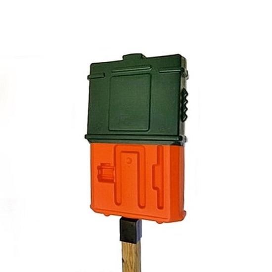 EZ Permit Box w/4x4 Post Adapter Green and Orange