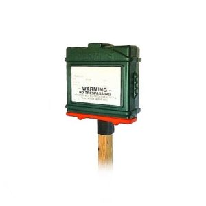 EZ Permit Box w/4x4 Post Adapter Green and Orange