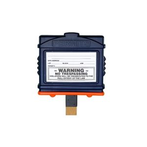 EZ Permit Box w/4x4 Post Adapter Blue and Orange