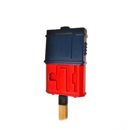 EZ Permit Box w/4x4 Post Adapter Blue and Red