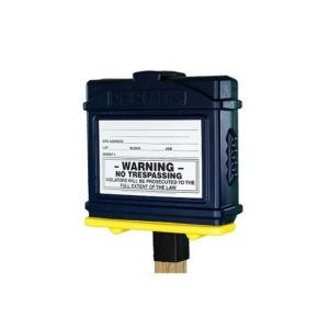 EZ Permit Box w/4x4 Post Adapter Blue and Yellow