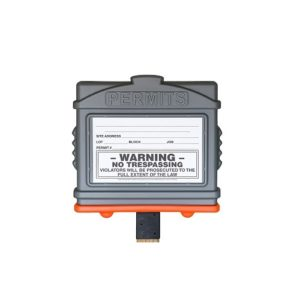 EZ Permit Box w/4x4 Post Adapter Gray and Orange