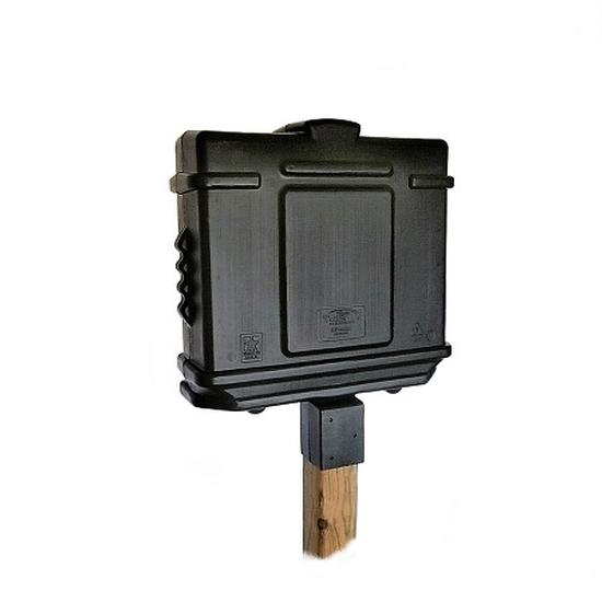 EZ Permit Box w/Lock & 4x4 Post Adapter Black and Black
