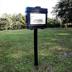 EZ Permit Box w/Post & Post Spike Black and Black