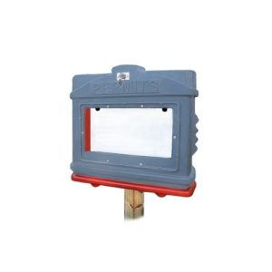 EZ Permit Box w/ Window & Lock Gray and Orange