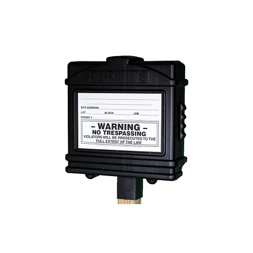 EZ Permit Box w/4x4 Post Adapter Black and Black
