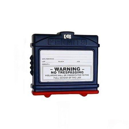 EZ PERMIT BOX W/LOCK BLUE AND RED
