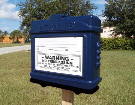 EZ Permit Box Blue and Black